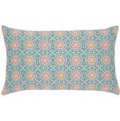 "Elaine Smith Pillows Grand Turk Mosaic Lumbar - 20"" x 12"""