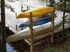 Log Kayak Rack For Kayaks, Canoes And Paddleboards.