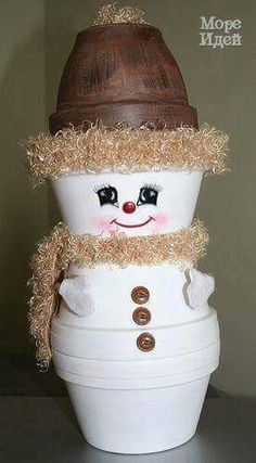 Crafts Clay Pots Snowman 2005 is part of Clay pot crafts - Crafts Clay Pots Snowman 2005 Flower Pot Christmas Tree This simple Christmas clay pot craft c Christmas Clay, Christmas Projects, Holiday Crafts, Holiday Fun, Christmas Holidays, Christmas Decorations, Christmas Snowman, Simple Christmas, Christmas Trees