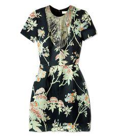 Honor Black Floral Dress