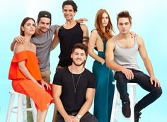 Shelley Hennig, Dylan O'Brien, Tyler Posey, Holland Roden, Dylan Sprayberry and Cody Christian #TeenWolf