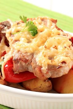 Creamy Potato Pork Chop Bake