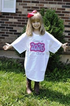 """Take a picture each year, starting in Kindergarten, of your child as they grow into their """"class of"""" shirt.  Adult Sized Class of Shirt (2014-2031) by CrabbyNurseCreations, $26.00"""