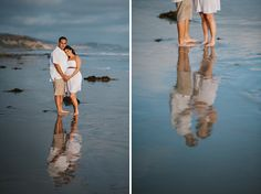 couple maternity beach pics