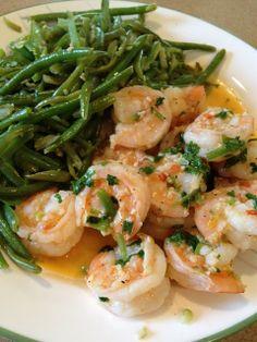 Cilantro Lime Shrimp & Green Beans - Super Yummy Recipes - http://acidrefluxrecipes.com/cilantro-lime-shrimp-green-beans-super-yummy-recipes/