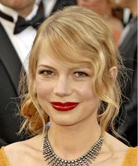 Michelle Williams Hairstyle - Updo Medium Curly Formal