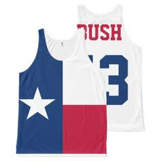 George W Bush President Texas Flag All-over-print Tank Top, Men's, Size: XS, Fire Brick / Midnight Blue / Pale Blue George W Bush, Texas Texans, Texas Flags, Printed Tank Tops, Print Tank, Tankini Top, Midnight Blue, Print Design