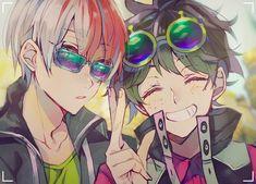 My Hero Academia (僕のヒーローアカデミア) - Shouto Todoroki and Izuku Midoriya Boku No Hero Academia, My Hero Academia Manga, Deku X Kacchan, Kirishima Eijirou, Me Me Me Anime, Anime Guys, Lgbt Anime, Ken Tokyo Ghoul, Anime Lindo