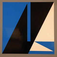 Lars-Gunnar Nordström (Finland 1924-2014): Dimensions & Extensions I (1988) 65x65 cm €600