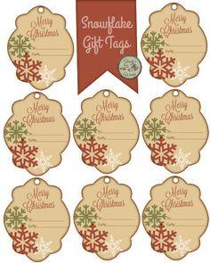 Free Snowflake Gift Tags