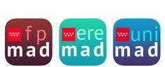 Aplicaciones móviles oficiales para informarse qué estudiar, dónde, etc, #Madrid #ios #android #app Logos, Android, Studios, Logo, A Logo