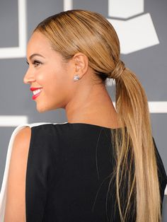 Beyonce's Long and Silky Ponytail. 9 New Ponytails to Try This Summer: Hair Ideas: allure.com