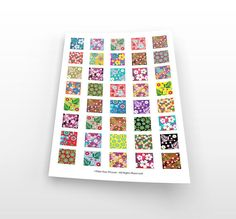 Colorful flowers digital collage sheet-instant by TakeYourPicture
