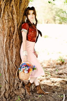 Character: Aerith Gainsborough / From: Square Enix's 'Final Fantasy VII' / Cosplayer: Adelina Milano (aka ForeverAdel, aka Adel Cosplay) / Photo: Abbie Warnock Photography (Abbie Warnock-Matthews) (2013)