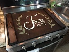 Noodle Boards - Stove top or sink top! Personalized and measured for your space. Choice of stain and design. I can help you create something beautiful Redo Kitchen Cabinets, Kitchen Stove, Kitchen Decor, Kitchen Chairs, Kitchen Remodel, Kitchen Ideas, Wooden Stove Top Covers, Stove Covers, Stove Board