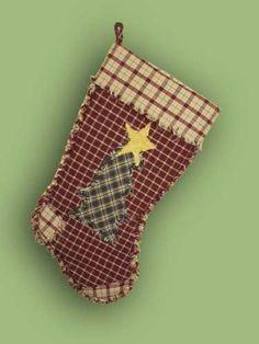 PrimitiveTree Homespun Christmas Stocking