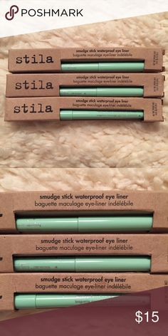 Stila Smudge Proof Waterproof Eye Liner Stila Smudge Proof Waterproof Eye Liner in Mint Julep. Brand New, Never Used. In Box. No Trades, No PayPal. Quick Ship! Bundle with other items for better pricing! Stila Makeup Eyeliner