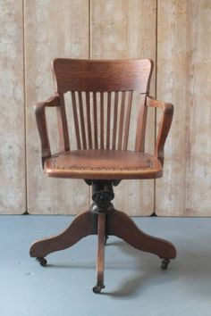 antique captains swivel and tilt office chair lndn ebay 200