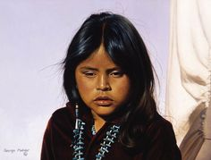 Navajo Girl by George Molnar