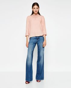 HIGH COLLAR LINEN BLOUSE-View All-TOPS-WOMAN-SALE | ZARA United States