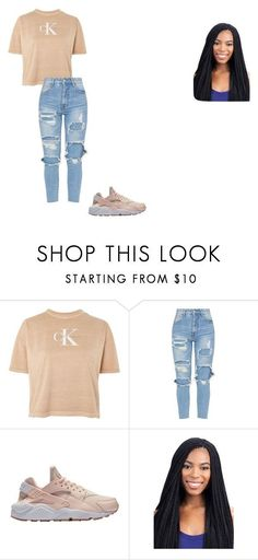 """""""Emberlys outfit"""" by nadiamillner on Polyvore featuring Calvin Klein and NIKE #polyvoreoutfits"""