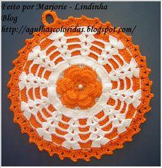 Agulhas Coloridas Croche e Trico: Pega panela Good directions...