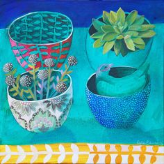 4Bowls on Blue by cate edwards, via Flickr
