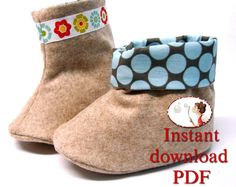 Sewing Pattern. Baby Boots. PDF file. Baby shoes. Baby booties. Instant download