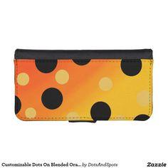 Customizable Dots On Blended OrangeToYellow Phone Wallets