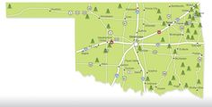 This handy map shows you the location of all Oklahoma state parks.