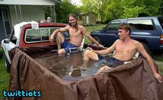 I don't have a pooL. I have a truck. Something tells me I've been lying to myself and I really do have a pool.