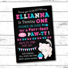 292 best printable party invitations birthday milestone chalkboards