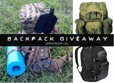 Ends 6/11 - Open US 18+ Only.  Enter to #Win one of Three!  Backpack Giveaway