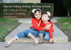$50 OshKosh B'Gosh Gift Card Giveaway + Tips for Taking Holiday Pictures of Kids. www.anytots.com #BgoshBelieve #ad