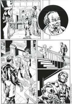 Graphic Novel Panels Layouts | Darryl Banks's layout reference ( left ) and finished page ( right ).