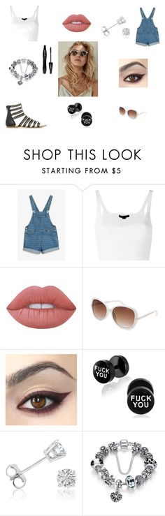 Untitled #450 by sparkle-4 on Polyvore featuring Alexander Wang, Monki, Amanda Rose Collection, GUESS, Lime Crime and Lancôme