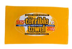 Celebrate 40 years of waving the Terrible Towel with this exclusive and limited Anniversary Pittsburgh Steelers Towel. Steelers Gifts, Steelers Apparel, Steelers Terrible Towel, Steelers Merchandise, Steeler Nation, 40th Anniversary, Pittsburgh Steelers, Nfl