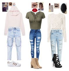 """""""lots of stuff kidz"""" by madystultz on Polyvore featuring WithChic, adidas, Yves Saint Laurent, A.L.C. and Urban Decay"""