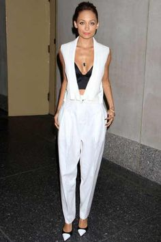 Nicole Ritchie looks beyond wearing J BRAND Read-To-Wear on the Today show.