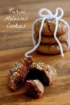 Tahini Molasses Cookies :: Grain, Nut, & Refined Sugar Free