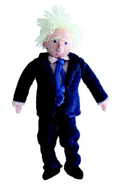 Create a hair-raising sensation with this knitted Boris Johnson!