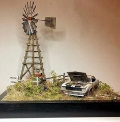 by L. David Building Art, Model Building, Decoration, Scale Models, Plant Hanger, Hot Wheels, Geek Stuff, Miniatures, Diorama Ideas