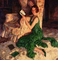 Alfred Lambart (British artist) 1902 - 1970 Juliet, Daughter of Richard H. Fox of Surrey, 1931 oil on canvas x cm. Reading Art, Woman Reading, Harlem Renaissance, Pierre Auguste Renoir, Art Uk, Lectures, Claude Monet, Art Design, Matisse