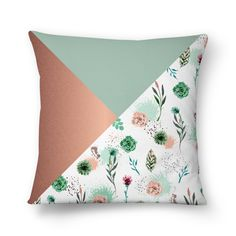 Almofada Succulents and triangles de juzimmermann | Colab55