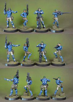 Stone Cold Lead: Infinity Pan Oceania troops