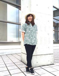 ☆リネンはムシ暑い季節の味方☆ リネンリーフプリント ¥7,900+税