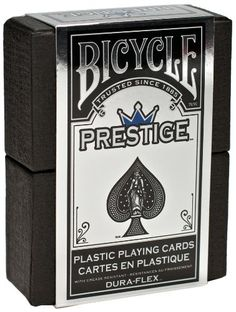 Bicycle Prestige Plastic Playing Cards -Reg Index -Poker-Blue Bicycle Deck, Bicycle Cards, Buy Bicycle, Bicycle Playing Cards, Plastic Playing Cards, Plastic Card, Sports Games For Kids, Card Companies, The Prestige