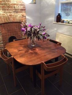 G Plan Vintage Mid Century Extending Dining Table U0026 4 X 60u0027s Clive Bacon  Chairs In