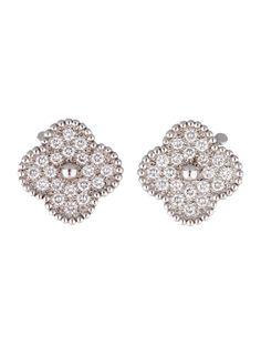 d58c4389b35 Diamond Alhambra Earrings