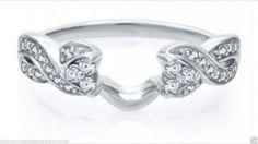 14kt White Gold Round Diamond Solitaire Enhancer Vintage Jacket Wrap Ring (0.25ct. tw)...(RG321857011439).! Price: $440.99 #gold #diamonds #ringguard #wrap #enhancer #fashion #jewelry #love #gift